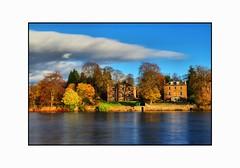 Pretty Autumn Day on the Banks of the River Tay  - Perth Scotland (Magdalen Green Photography) Tags: longexposure trees reflections scotland rivertay perthshire scottish perth autumnal hdr deepblue dsc4297 blueview expanseofblue iaingordon prettyautumndayonthebanksoftherivertay rivertayatperth