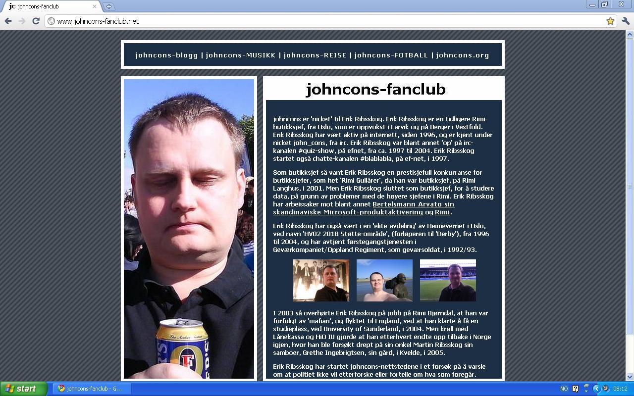 første versjon av johncons-blogg