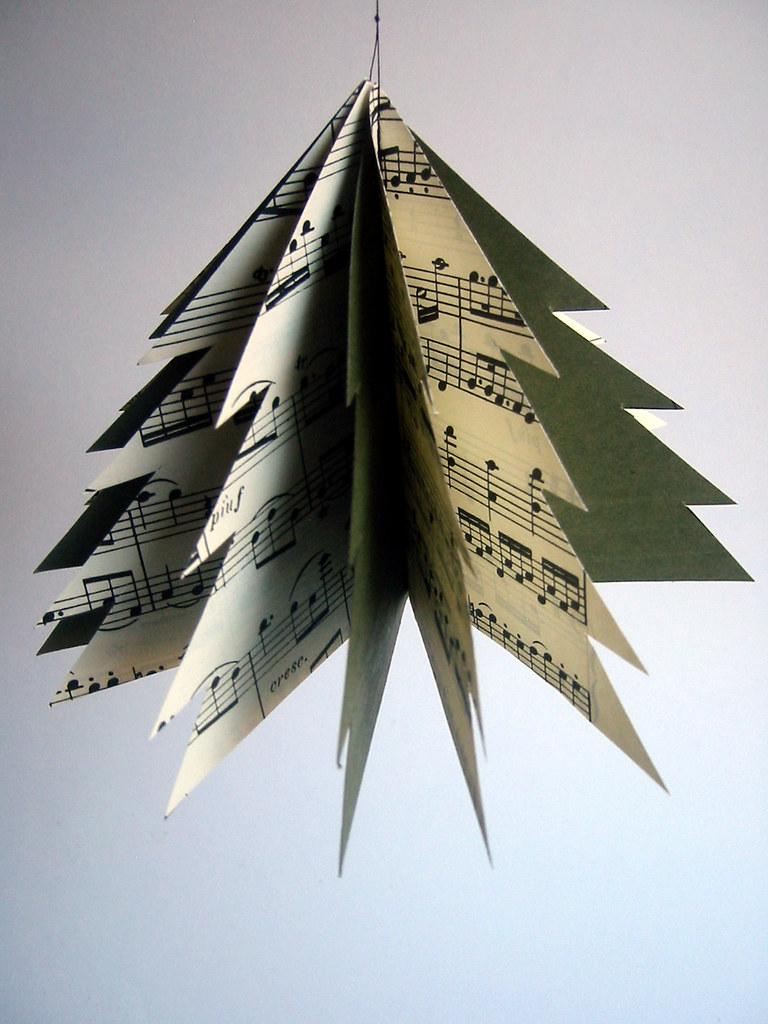 sheet music paper tree green