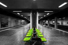 The green seats, (Frank Toepfer) Tags: green station underground subway ubahn grn sitze