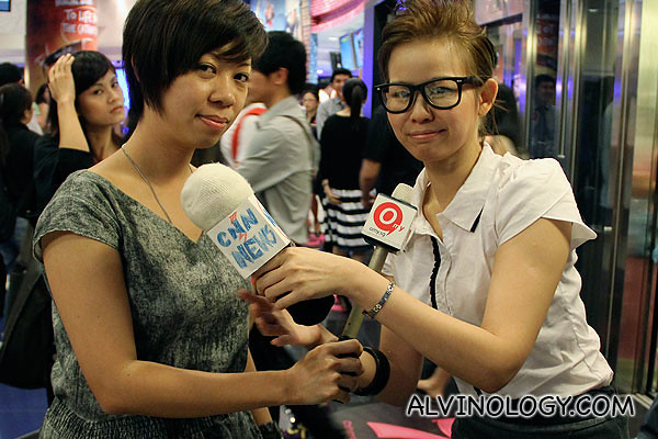 Janet, the omy.sg reporter and Gin, the Megamind reporter