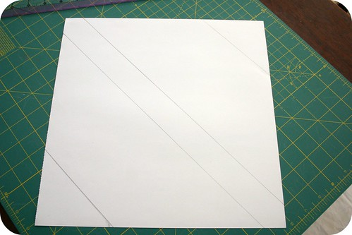 Paper square marked and ready