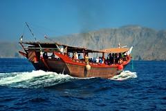 Sailing Through Another Week [45/52] (Krysta Shippelt (Larson)) Tags: cruise sea mountains water boat gulf traditional relaxing sail oman dhow musandam khasab