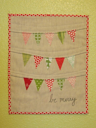 """be merry"" Christmas mini quilt"
