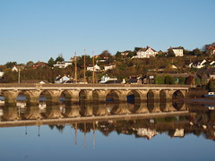 Double arches (2) (jurassic john) Tags: bridge reflection water stone river arch olympus estuary devon 1001nights e600 westcountry absolutelystunningscapes