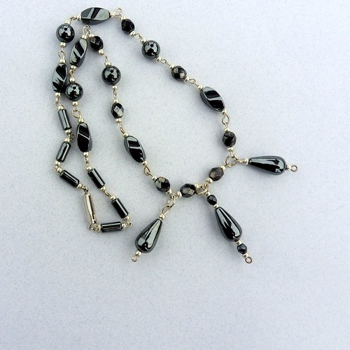 Hematite Necklace by www.metaphoricalplatypus.com, on Flickr