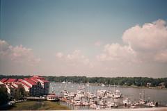 (amanda-kaitlynn) Tags: ocean sky film water 35mm boats sail