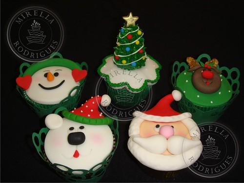 Cupcakes de Natal / Christmas cupcakes