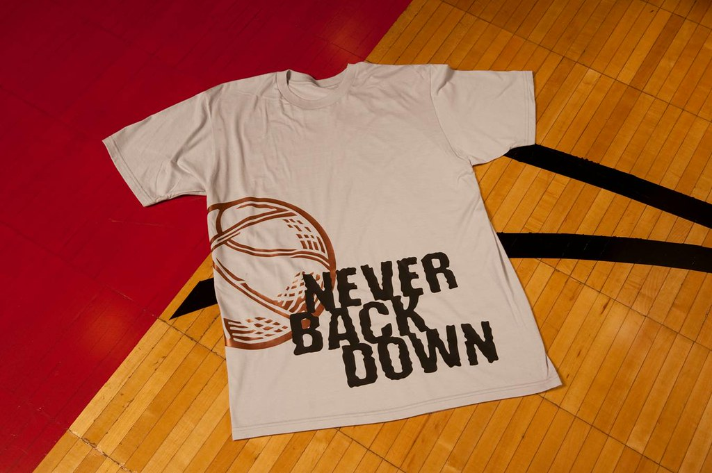 Mixed Media Basketball T Shirt