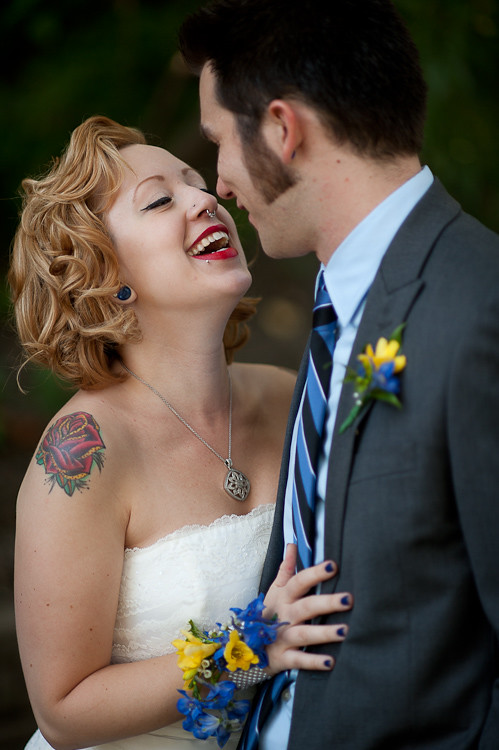 Wedding Tattooed Couple. Photographed by Philadelphia Wedding Photographers