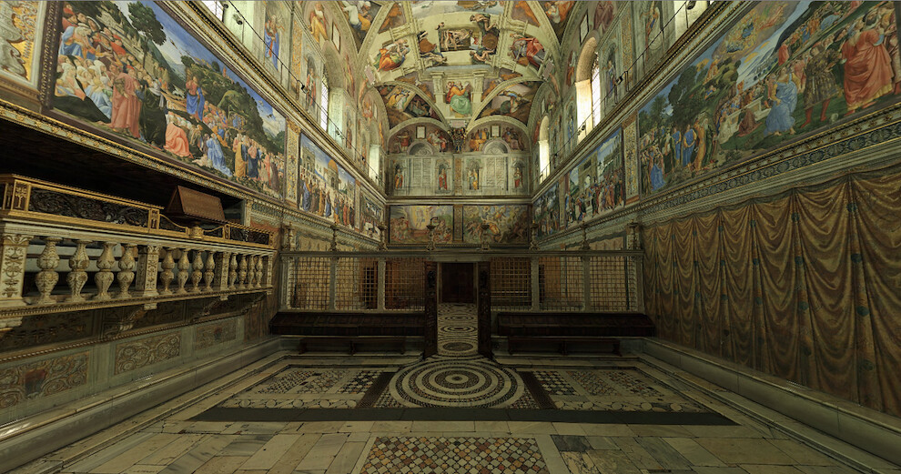 Sistine Chapel facing the entrance