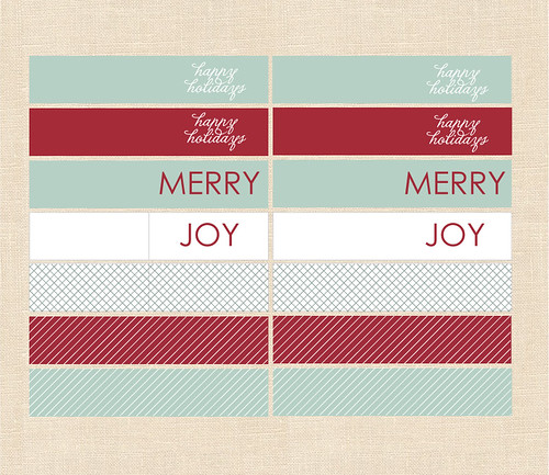 Freebie Friday - Holiday Cupcake Flags