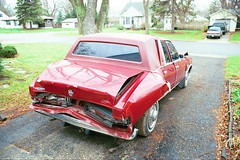 1986 Chrysler Fifth Avenue (DVS1mn) Tags: red cars car sedan accident 5thavenue dodge chrysler mopar fifthavenue 1986 86 wpc walterpchrysler 4door chryslercorporation mbody mbodies