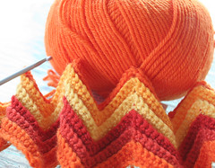 new project (rettgrayson) Tags: orange wool spectrum crochet chevron zigzag