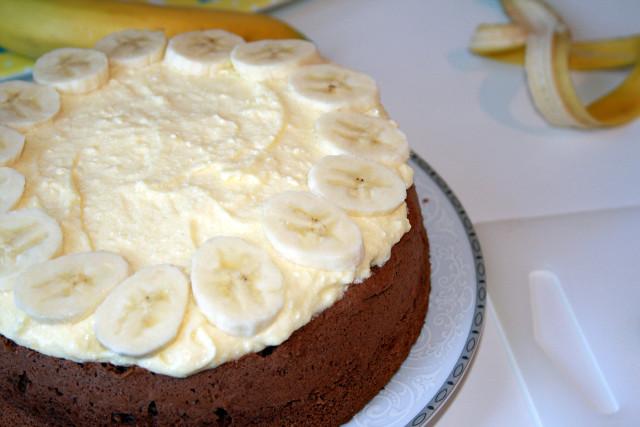 Brownies with bananas