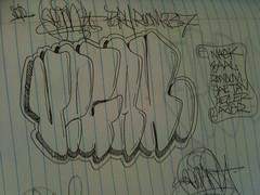 (VAEKUUUM) Tags: graffiti sketch vegan fts throwup 237 handstyle mencer brh throwie vaek veganvaek
