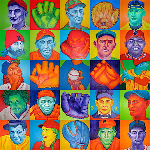 Partial baseball collage