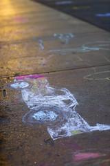 Recess Masterpiece (shuttermeister) Tags: school sun sunlight art childhood playground chalk child earlymorning sidewalk missouri recess elementary masterpiece chalkdrawing chalkdrawings sidewalkdrawing sidewalkdrawings recessmasterpiece