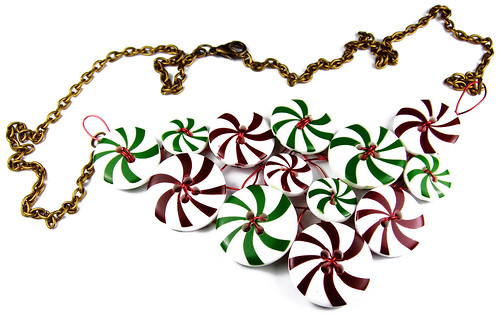 Christmas drops necklace