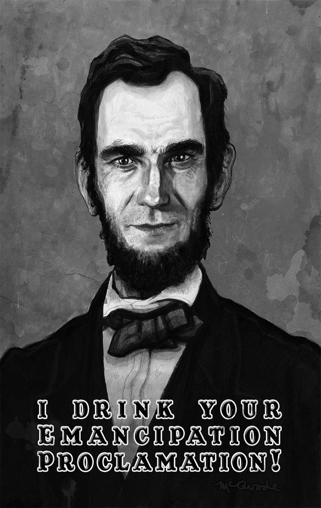 Daniel-Day-Lewis-as-Abraham-Lincoln-by-Patrick-McQuade-Poster