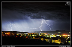 Show of Force (TranceVelebit) Tags: emel low pressure storm chase cell cumulonimbus kumulonimbus lightning bolt bolts thunder struck adriatic sea jadran pasman paman zadar city town buildings houses night hrvatska croatia aleksandargospic