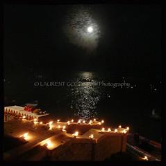 Shiva's Moon (designldg) Tags: moon india water festival night river square atmosphere celebration soul devotion varanasi hinduism kashi timeless ganga ganges ghats benares benaras uttarpradesh भारत
