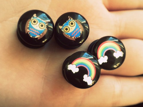 owls and rainbows in your ear lobe!