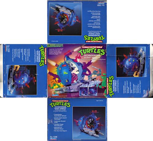 """TEENAGE MUTANT NINJA TURTLES :: """"Technodrome Scout Vehicle"""" { 1993 } KB Toys Reissue i  (( 1998 ))"""