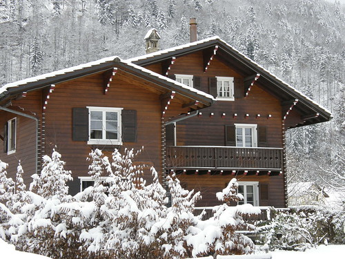 Picture Postcards Snowy Swiss Chalet