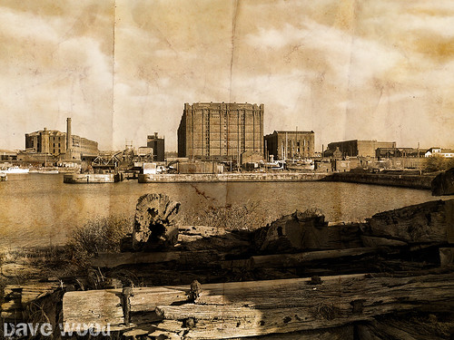 Collingwood Dock, Liverpool (faux vintage)