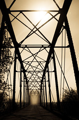 Wohler Bridge in the River Fog by Moon Light (Randy Wentzel Photography) Tags: light moon afterdark longexposuresatnight westsonomacountycalifornia