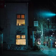 2041/1714^'+z# (june1777) Tags: street light bicycle night zeiss square t cafe kodak snap jena 66 f carl seoul russian kiev portra 800 v1 f28 60 80mm kiev60 czj biometar angukdong
