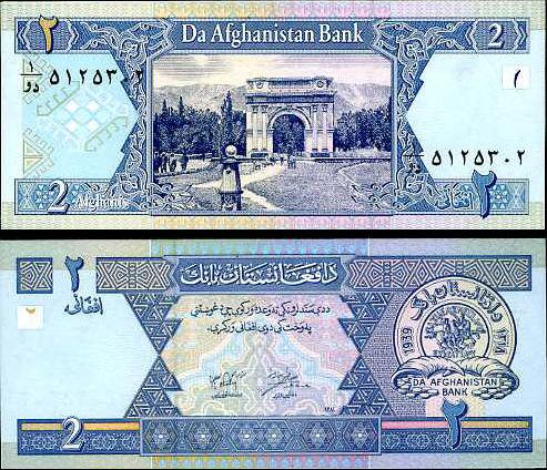 2 Afghani Afghanistan 2002, P65