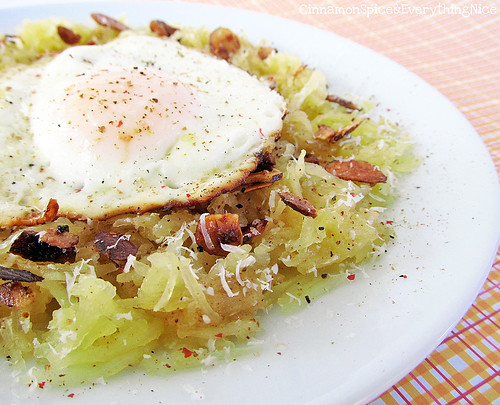 Brown Butter Spaghetti Squash with Fried Eggs
