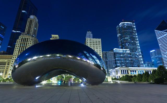 Chicago Blue Bean, par Franck Vervial