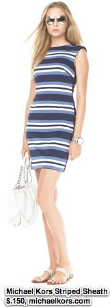 MICHAEL Michael Kors Striped Sheath Dress - Michael Kors