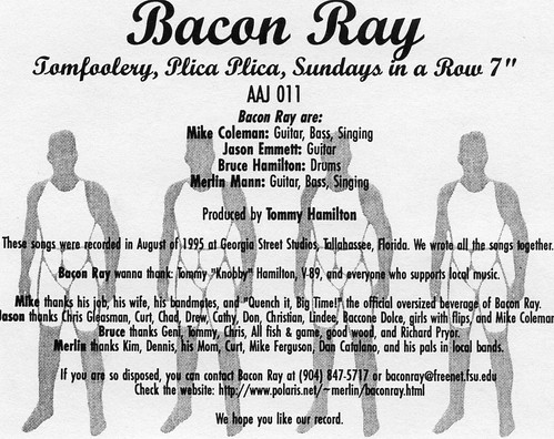 Bacon Ray- Tomfoolery (Insert)