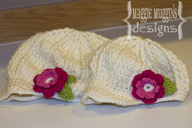 Newsgirl Beanies with Flowers