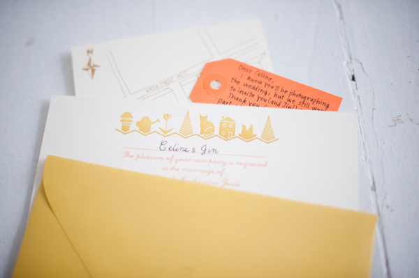 M+C wedding invitation!