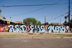 Walking the Dog (Sean Davis) Tags: arizona phoenix dogwalker dogs family street