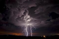 Netherworld (Steven Maguire Photography) Tags: lightning lightningstrike longexposure landscape thunderstorm night arizona clouds monsoon