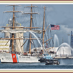 The arrival of the Coast Guard cutter Eagle. thumbnail