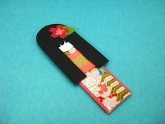 Magnetic Doll Bookmark - Koyou (umeorigami) Tags: asian japanese doll bookmarks sakura magnetic papercraft washi ningyo chiyogami dollbookmarks