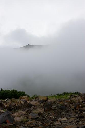 ほんの一瞬現れた山頂