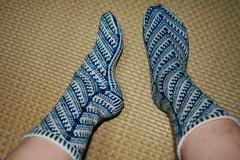 Blue zilboorg socks