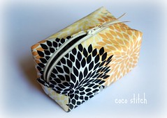 small cosmetic pouch (coco stitch) Tags: black yellow japanese grey box small pouch etsy cosmetic andreavictoria rileyblake cocostitch