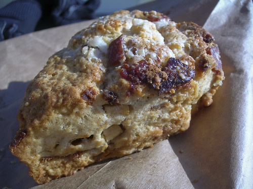 apple, maple, bacon scone from Sandbox Bakery
