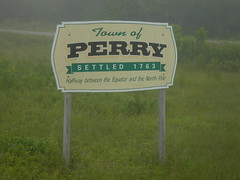 Perry Town Limits Sign