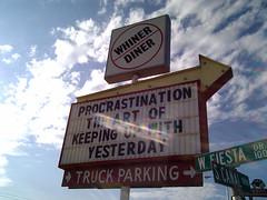 IMAGE Procrastination - Whiner Diner