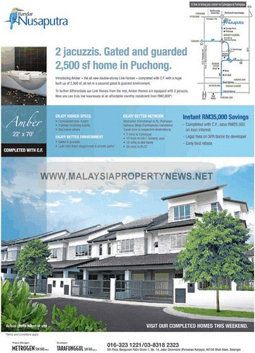 Gated & Guarded home for sale in Puchong Bandar Nusaputra